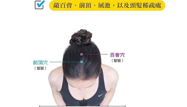 刺激「前頂穴」 養出一頭黑髮