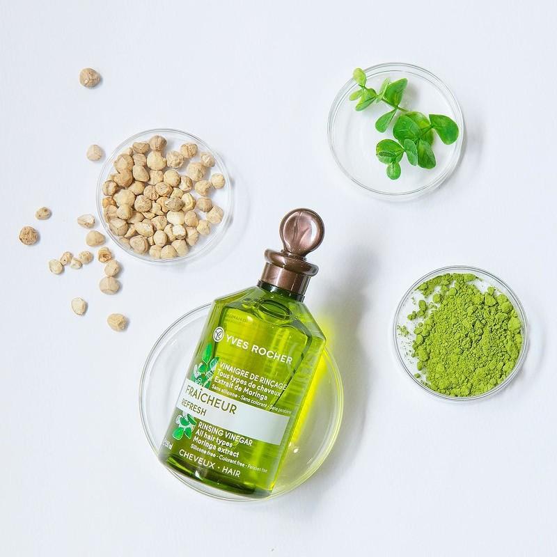 法國Yves Rocher又推全新辣木籽淨化髮醋 徹底清潔頭皮 消除夏日尷尬頭油味!