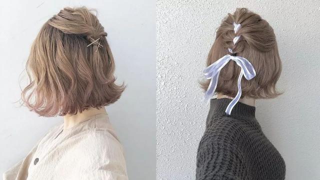 除了半丸子頭,日韓女生都在瘋的5款浪漫系編髮!綁完超仙